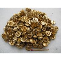 """Пуговица. Малая с гербом """"Погоня"""" РБ периода 1992-1996г. (в золоте) (диаметр 13,5 мм). цена за 1 шт."""