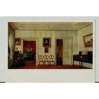 Открытка 1973 г. Неизвестный художник Маленький зал с фортепиано