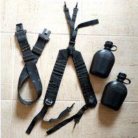 Разгрузка ALICE: ремень, плечевые лямки и две фляги БУ - с рубля без МПЦ!