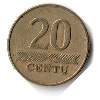 Литва. 20 центов. 1997 г.