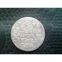 3 гроша 1592 Рига