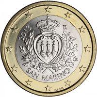 1 евро 2013 Сан-Марино UNC из ролла