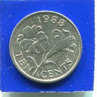 Бермудские острова , Бермуды 10 центов 1988