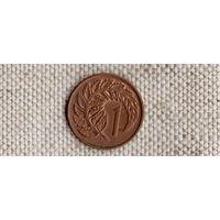 Новая Зеландия 1 цент 1970/флора(Li)