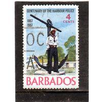 Барбадос. Mi:BB 262. С памятником якоря Серия: Полиция порта. 1967