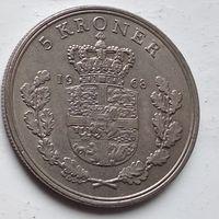 Дания 5 крон, 1968 4-6-21