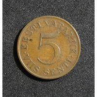 Эстония 5 сентов, 1931