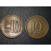 Южная Корея 10 вон (список)