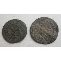 Полугрош 1565г. и солид 1627г. (не чищен).