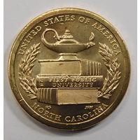 США 1 доллар 2021 Первый государственный университет Северная Каролина Американские инновации (13-я в серии) двор  Р