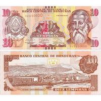 Гондурас  10 лемпир    2010 год  UNC