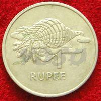 7692:  1 рупия 1977 Сейшелы