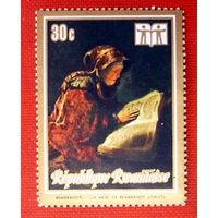 Руанда. Живопись. Рембрандт. ( 1 марка ).