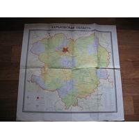 Карта Харьковской области 1985 год