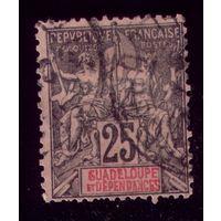 1 марка 1892 год Гваделупа 34