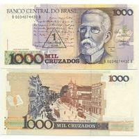 Бразилия 1 новый крузадо на 1000 крузадо UNC p216b