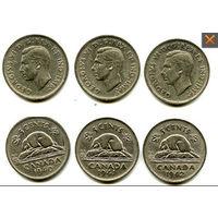 Канада 5 центов 1942 БОБЕР СОСТОЯНИЕ