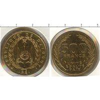 Джибути 500 франков 1991