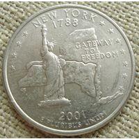 25 центов 2001 США - Нью Йорк