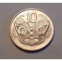 10 центов, Новая Зеландия 1970 г., AU