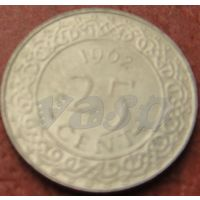 4465:  25 центов 1962 Суринам