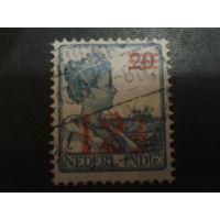 Нидерландская Индия 1930 Колония королева надпечатка 12 1/2 на 20