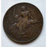Франция 10 сантимов, 1906 2-5-12