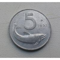 5 лир 1952 г. Италия