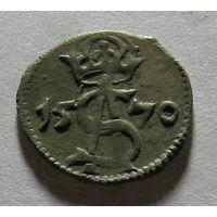 Двойной денарий 1570 года. Штемпель Петра Платины