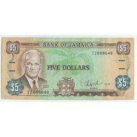 Ямайка 5 доллара 1987 год.