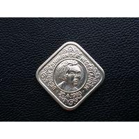 Нидерланды 5 центов 1980 г. с 30.04 1980 г. Королева Нидерландов Беатрикс