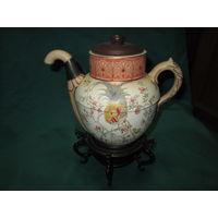Чайник заварник Doulton Manchester Англия 1886 год номер 6327 ручная роспись.