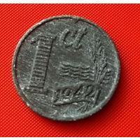 24-19 Нидерланды, 1 цент 1942 г.