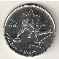 Канада 25 цент 2007 XXI зимние Олимпийские Игры, Ванкувер 2010 Кёрлинг