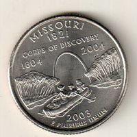 США квотер 2003 штат Миссури