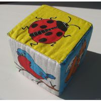 Кубик-мякиш со зверями и птицами