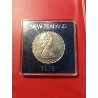 Новая Зеландия, 1 доллар 1975 г. в футляре-боксе, UNC