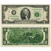США. 2 доллара (образца 1976 года, F, Джорджия, P461, XF)