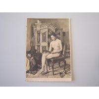 Старая немецкая открытка. НЮ.