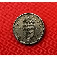 55-17 Великобритания, 1 шиллинг 1962 г. (Английский герб - 3 льва внутри коронованного щита)