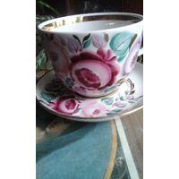 Чайная  пара Ручная роспись  0,5 литра
