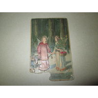 Почтовая карточка открытка объёмная С Рождеством Россия,нач 20-го в.