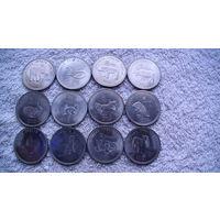 Сомалиленд 10 шил. 2012г.  12 монет,  Знак зодиак. металл 27мм. распродажа