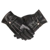 Мужские кожаные перчатки, для сенсорного экрана