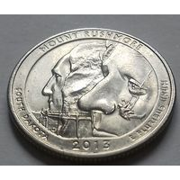 25 центов, квотер США, нац. парк Маунт Рашмор (штат Южная Дакота), P