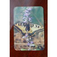 Календарик с бабочкой 1990