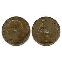 Великобритания. 1 пенни 1905 г.