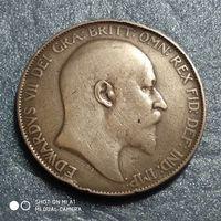 G Великобритания 1 пенни 1905 г. Едуард Едвард 7-й