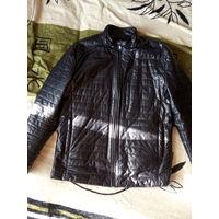 Куртка кожаная размер 50 в отличном состоянии