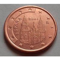 5 евроцентов, Испания 2001 г., AU